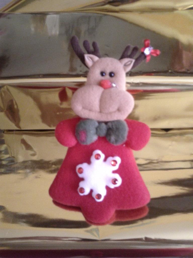 Spilla Renna grande di Natale