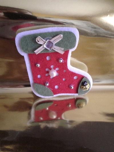 Spilla scarponcino di Natale