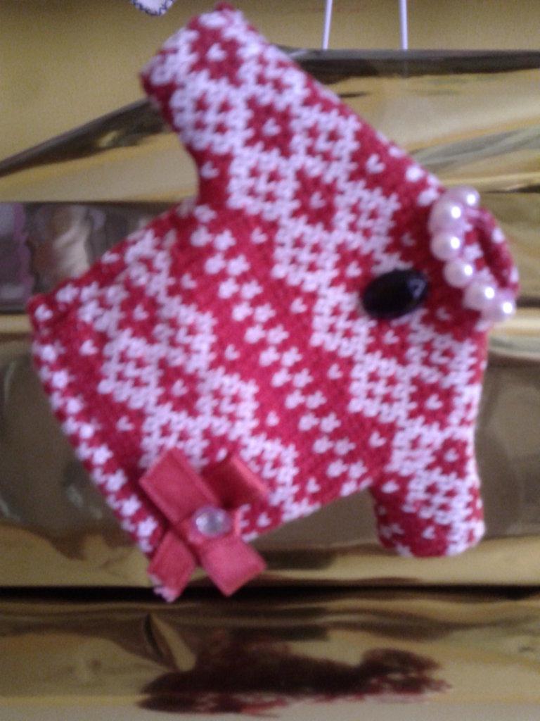 Spilla mini maglia di Natale