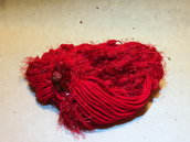 Sciarpa in lana rossa