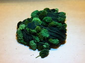 Sciarpa in lana merino verde scuro