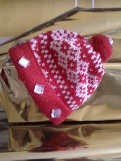 Spilla mini cappello di Natale