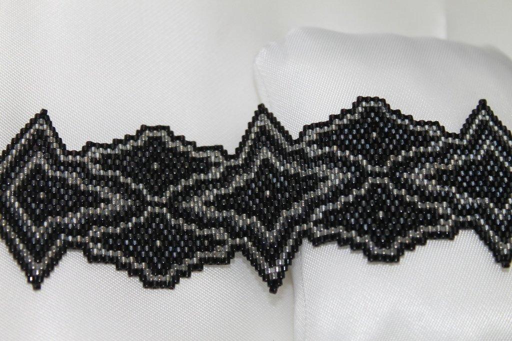 Bracciale Donna Gotico Peyote Fatto a Mano Handmade Gothic Bracelet