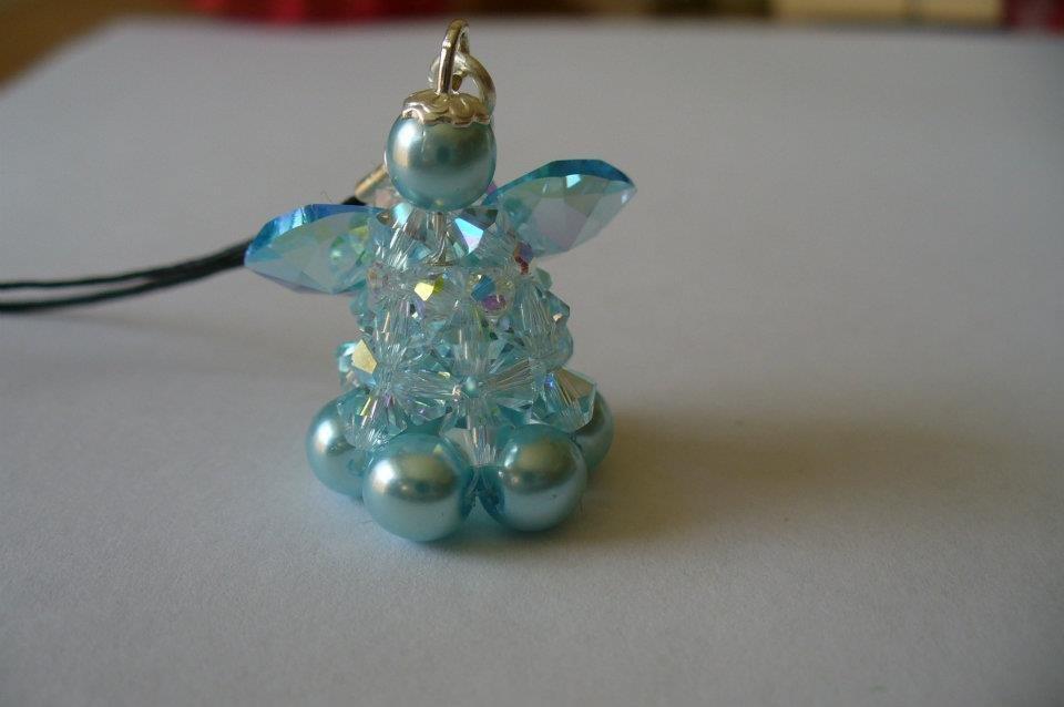 angelo con perle swarovski