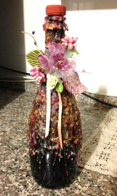 Bottiglia decorata