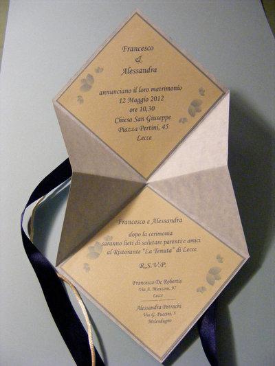 Partecipazioni Matrimonio Origami.Partecipazioni Nozze Feste Matrimonio Di Tableaux De Mariage