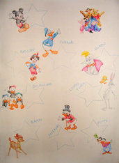 Tableau Battesimo - Cartoons Disney