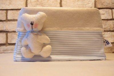 Basket porta oggetti feltro e stoffa decoro orsetto maschietto