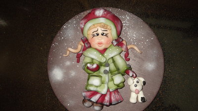 quadretto bimba natalizia