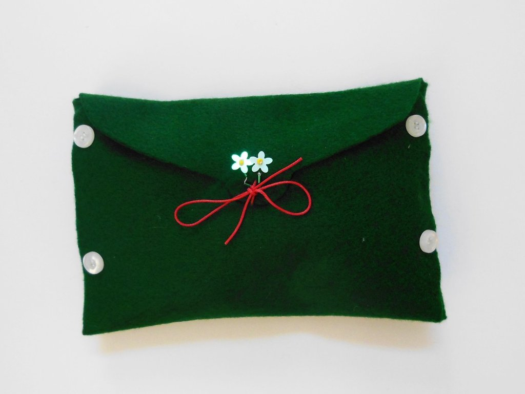 Confezione regalo natalizia grande in feltro