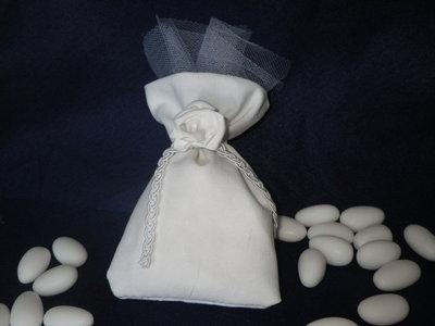 bomboniera sacchetto bianca