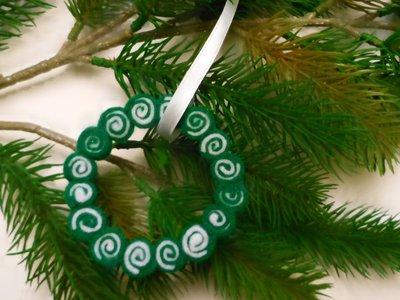 Decorazione natalizia 'ghirlanda di girandole bicolore'