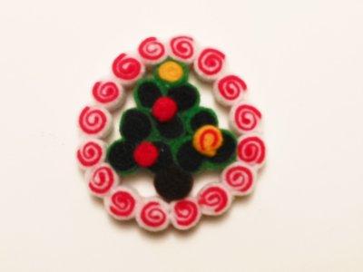 Decorazione natalizia 'ghirlanda di girandole con alberello'
