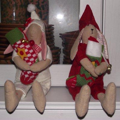 coniglietto natalizio