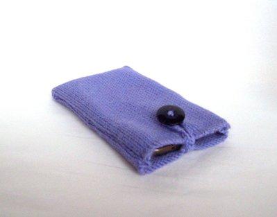 Custodia smartphone a maglia in lana (art. 43_lilla)