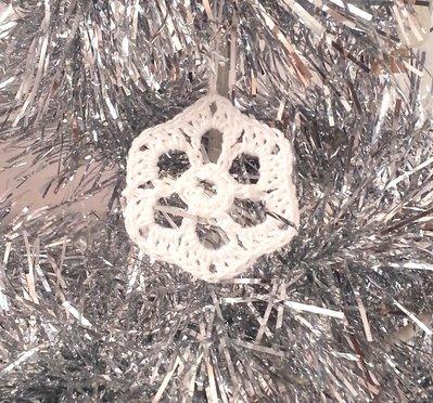 """Decorazione natalizia fiocco di neve """"Ghiaccio"""" (art. 7_bianco)"""