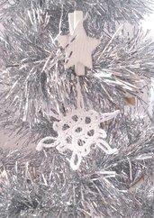 """Decorazione natalizia fiocco di neve """"Cristallo stellare"""" (art. 8_bianco)"""
