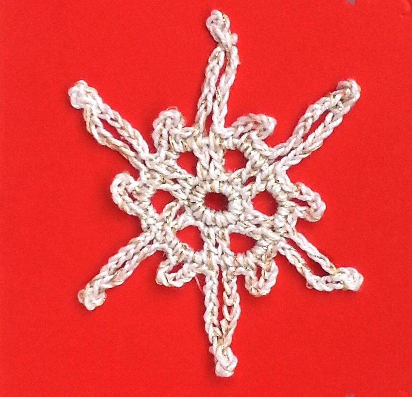 """Decorazione natalizia fiocco di neve """"Cristallo Stellare"""" (art. 8_bianco/oro)"""