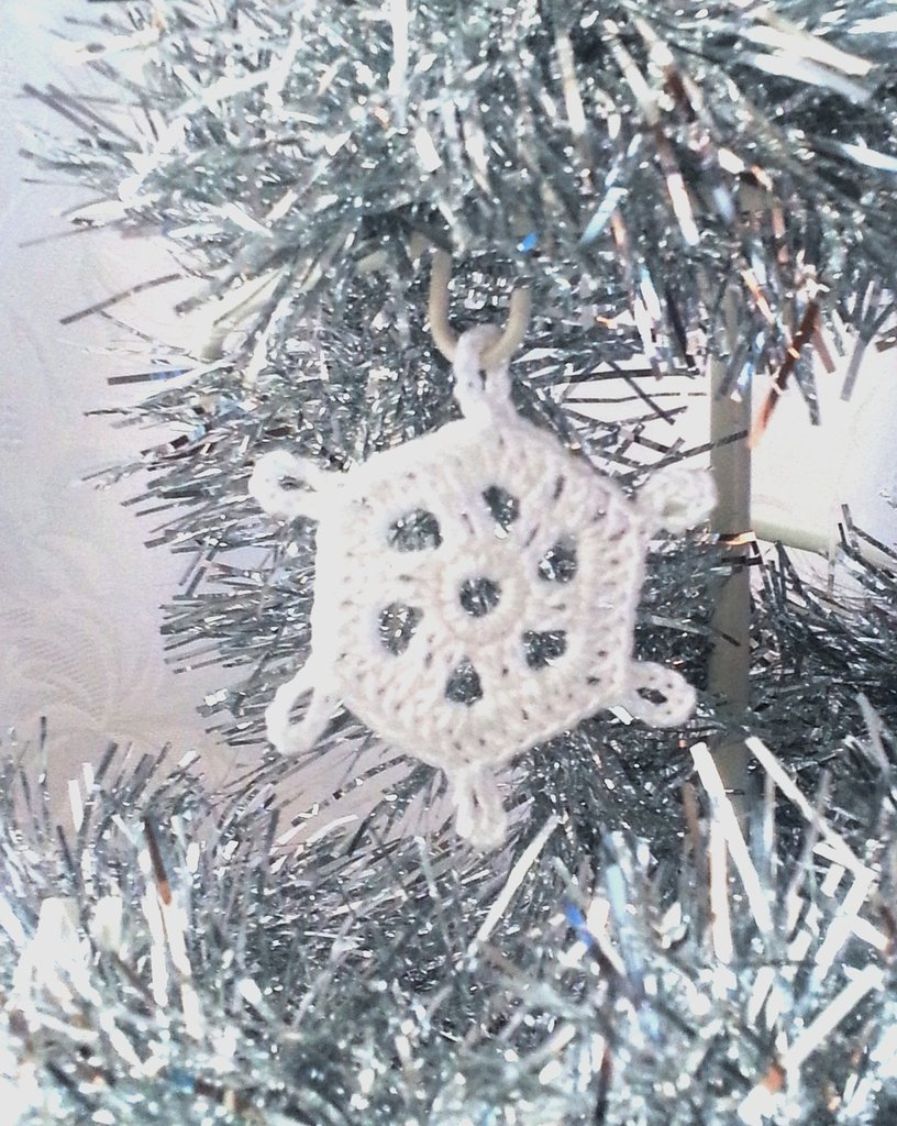 """Decorazione natalizia fiocco di neve """"Neve di Primavera"""" (art. 9_bianco)"""