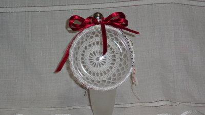 palla di natale rivestita in cotone