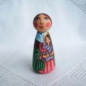 Santa Elisabetta madre del Giovanni Battista bambola figurina