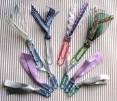 Clips Gommate Decorative per Scrapbooking & Cardmaking - lotto (10pz)