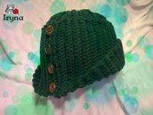 """Cappello """"alla Robin Hood"""" ad uncinetto"""