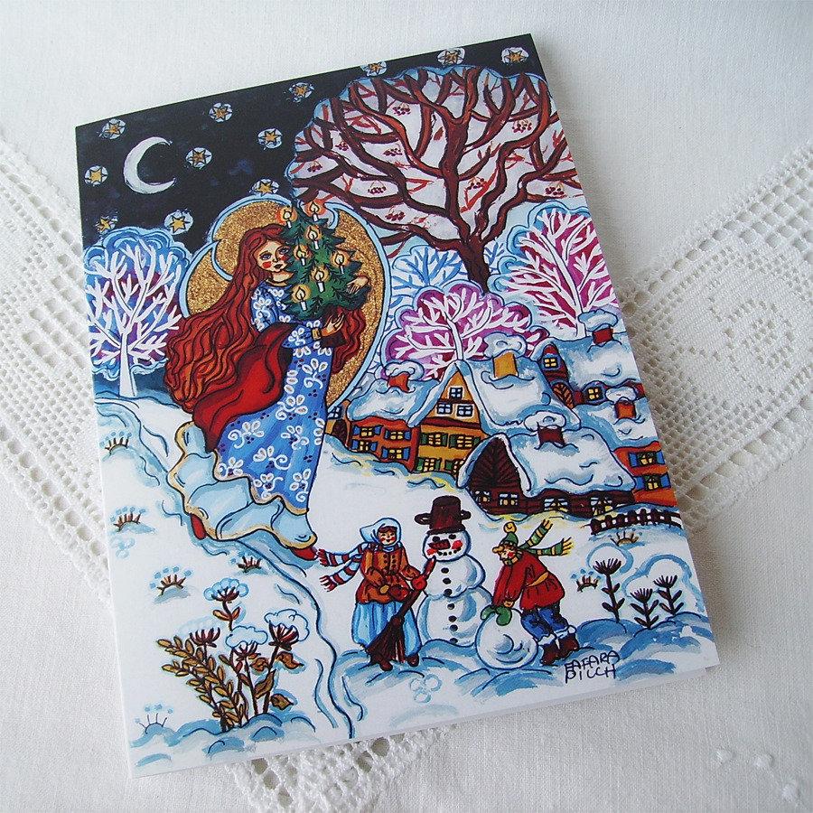 Notte Natale angelo natalizio cartolina biglietto