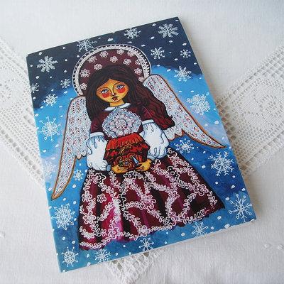 L'angelo di Natale presepe Natività biglietto