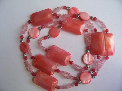 collana rosa antico cm.118