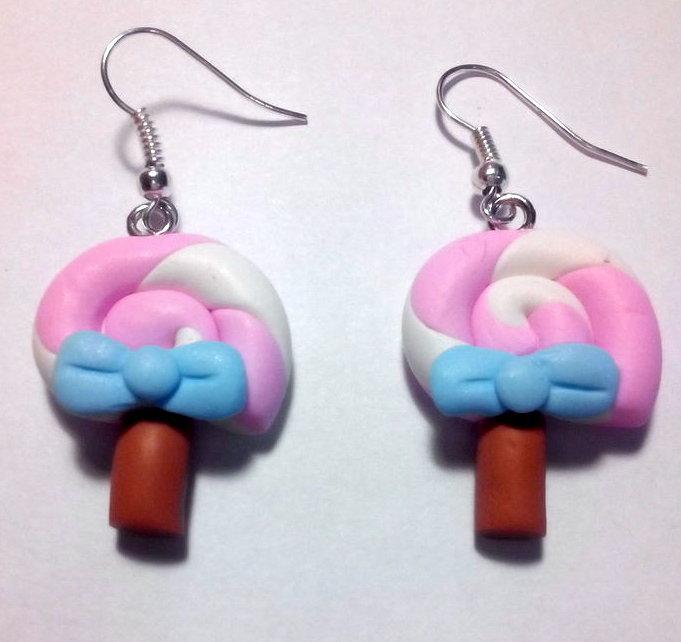 orecchini lollypop in fimo