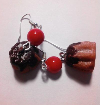 orecchini pandoro cioccolato