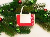 Decorazione natalizia a cornice in tessuto e feltro