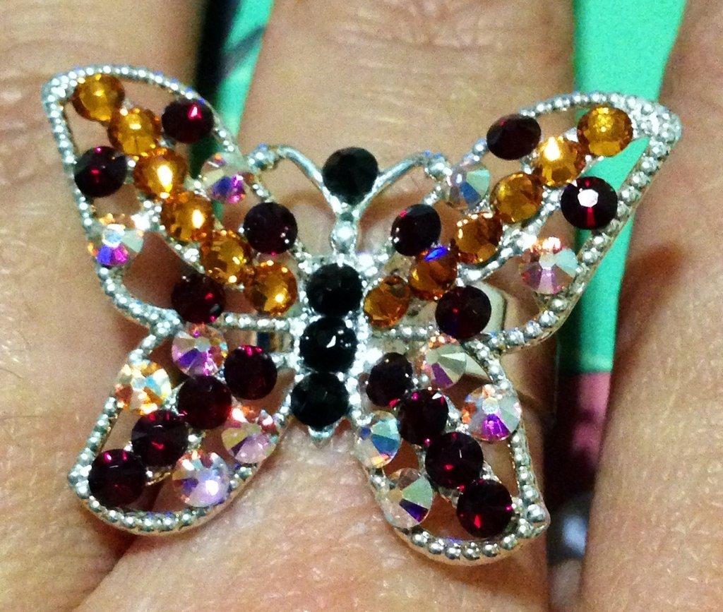 Anello Swarovski farfalla