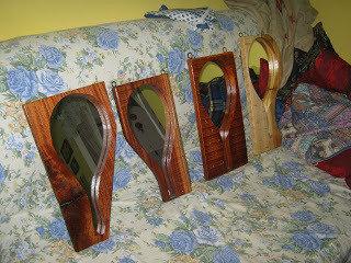 Specchi e Racchette in mogano KAOOBA