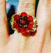 Anello Swarovski fiore