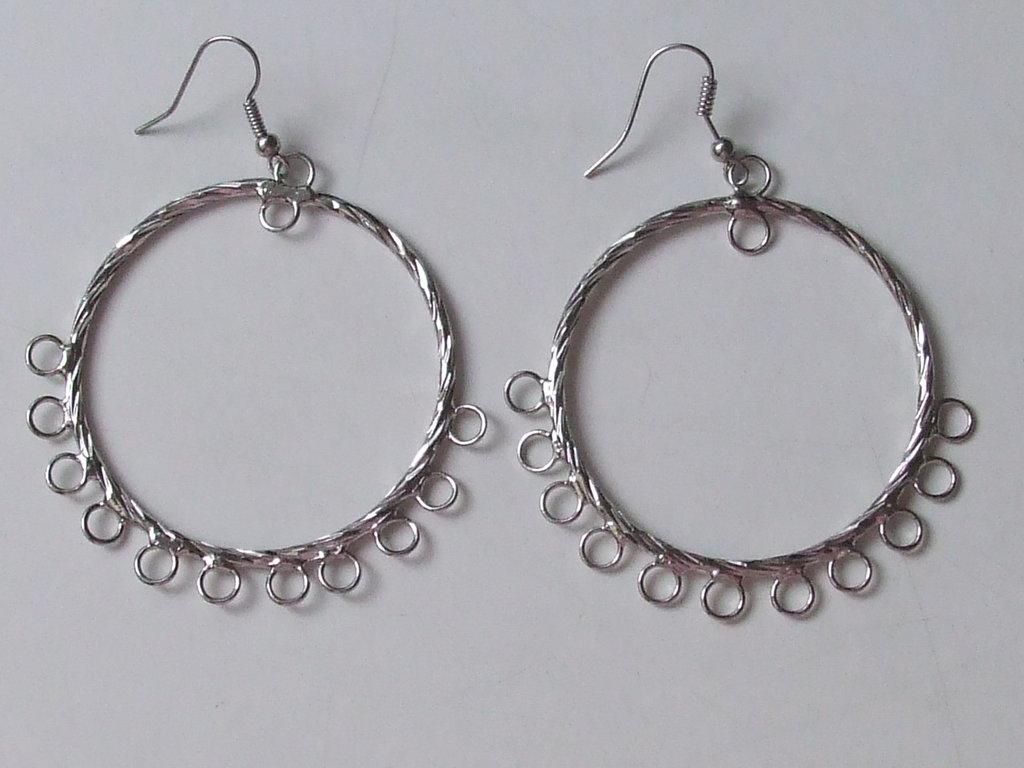 2 connettori orecchini a cerchio 45mm