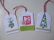3 tags Natale fantasia