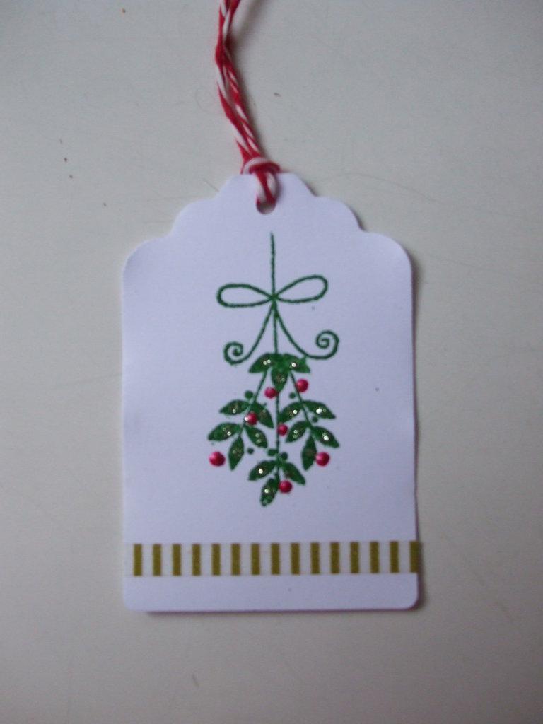 3 tags Natale vischio