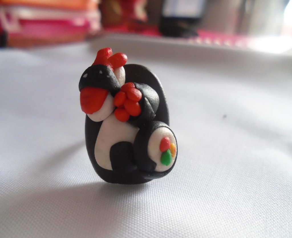 anello sushi in fimo