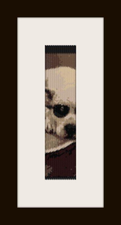 PDF schema bracciale dog1 in stitch peyote pattern - solo per uso personale