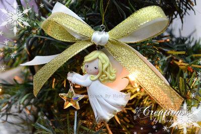 Angioletto di Natale realizzato a mano