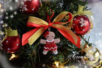 Decorazione Natalizia con Gingerbread Femmina