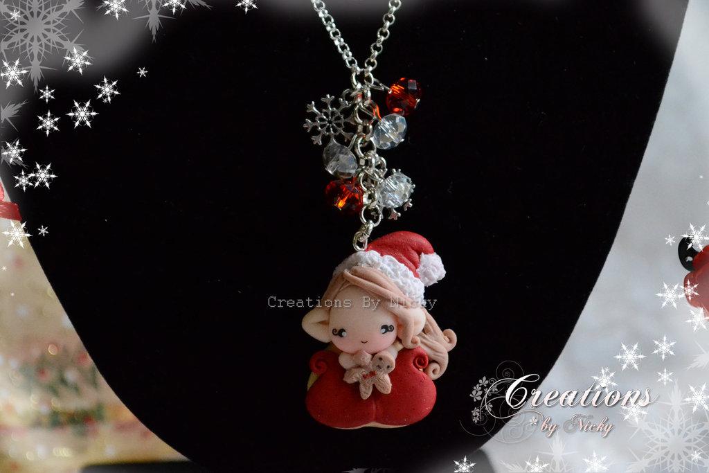 Collana con follettina di Natale