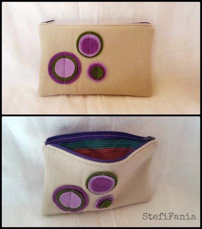 Pochette in feltro handmade