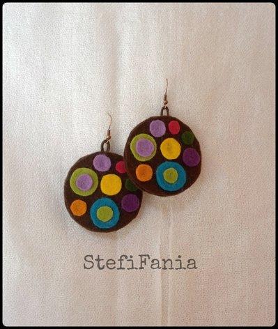 Orecchini handmade in feltro