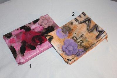 Pochette in stoffa con fiore