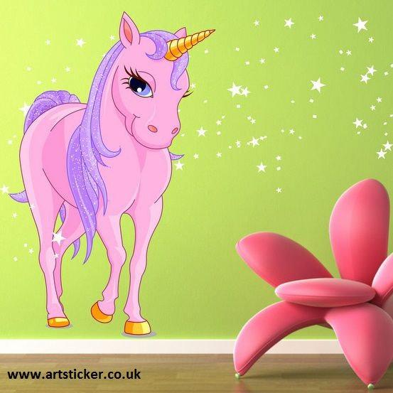 Unicorn / Unicorno (2464f) Adesivi per Camerette
