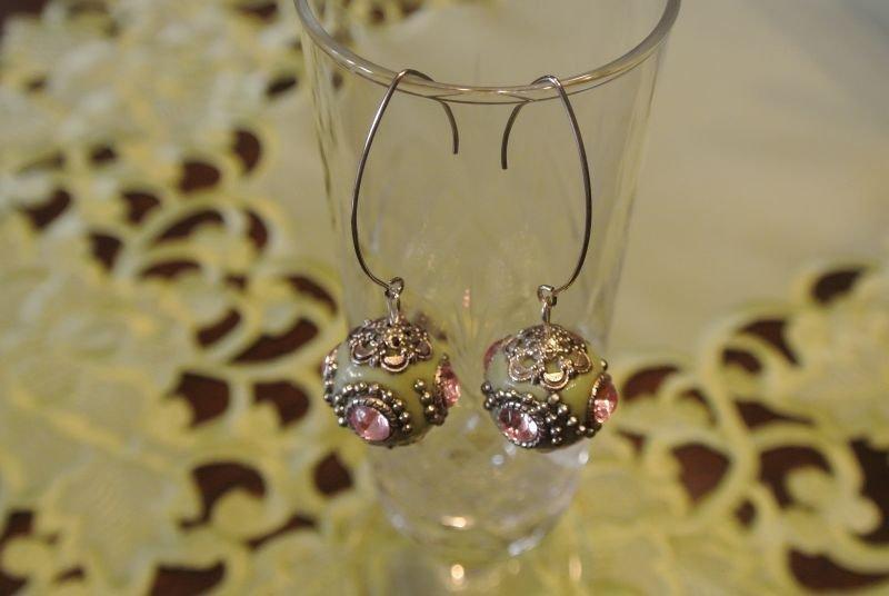 Orecchini pendenti con perla kashmiri - Aarti