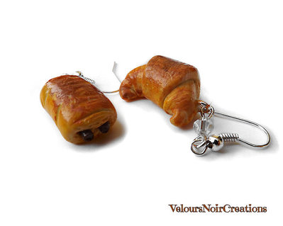 Orecchini croissant cornetto e pain au chocolat